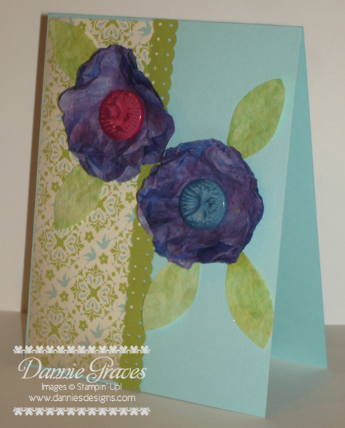 Coffee Filter Flower Card