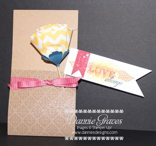Fabric Flower Card