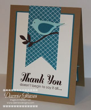 Dannie S Designs Masculine Thank You Card